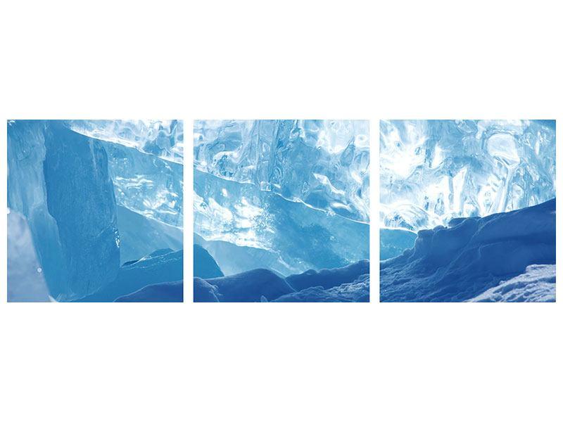 Panorama Klebeposter 3-teilig Baikalsee-Eis