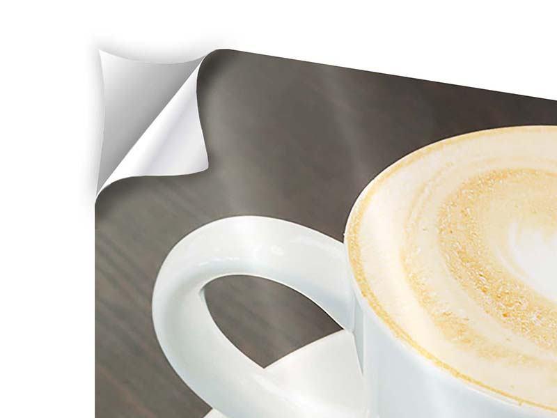 Panorama Klebeposter 3-teilig Lieblingskaffee