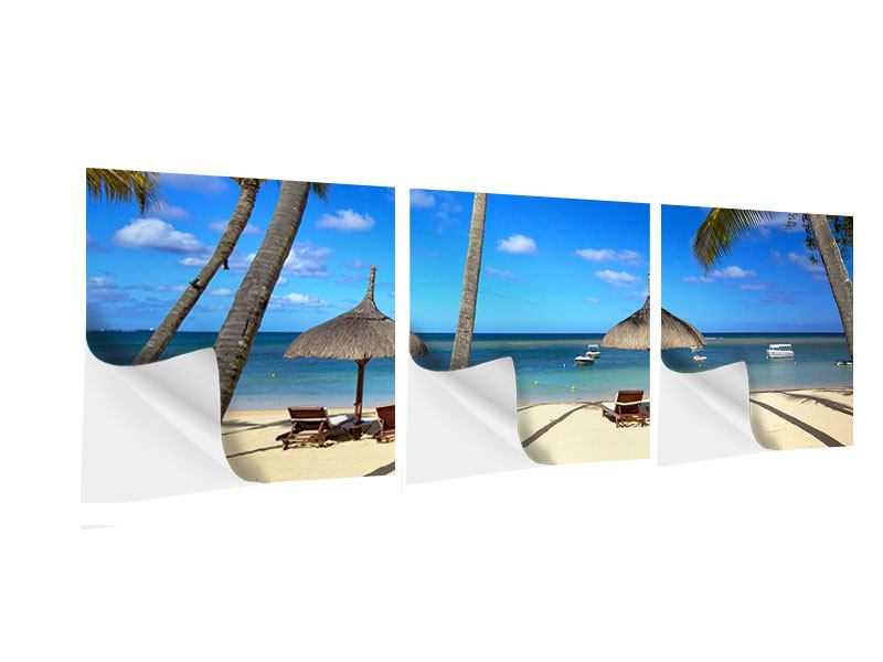 Panorama Klebeposter 3-teilig Mauritius
