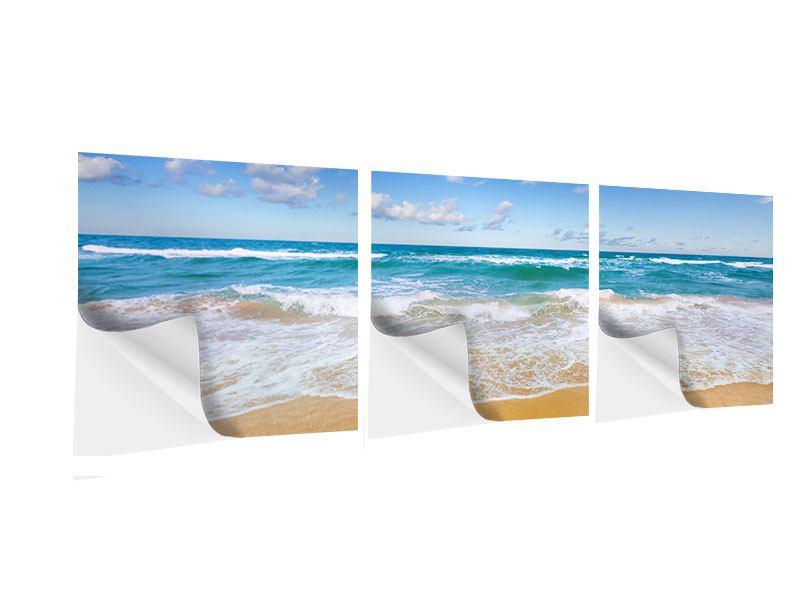 Panorama Klebeposter 3-teilig Die Gezeiten und das Meer