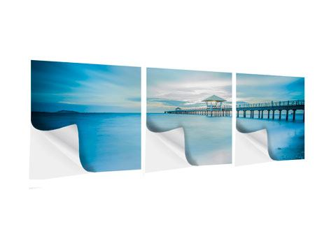 Panorama Klebeposter 3-teilig Brückenimpression