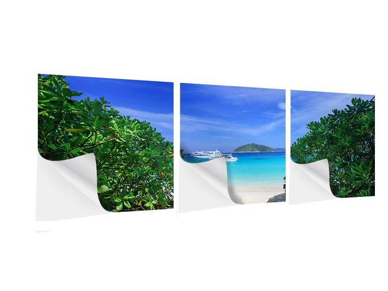 Panorama Klebeposter 3-teilig Similan-Inseln