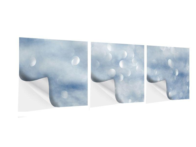 Panorama Klebeposter 3-teilig Kristallglanz