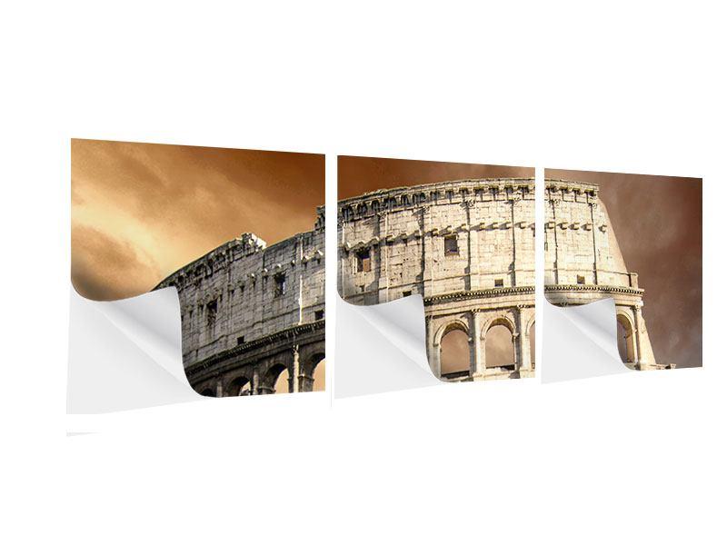 Panorama Klebeposter 3-teilig Kolosseum Rom