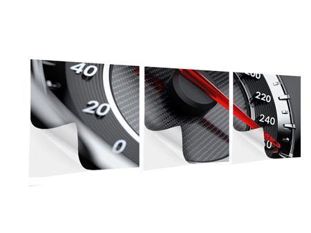 Panorama Klebeposter 3-teilig Geschwindigkeit