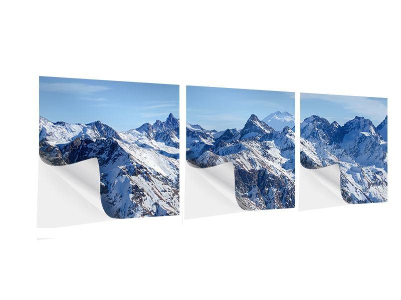 Panorama Klebeposter 3-teilig Gipfelspitzen