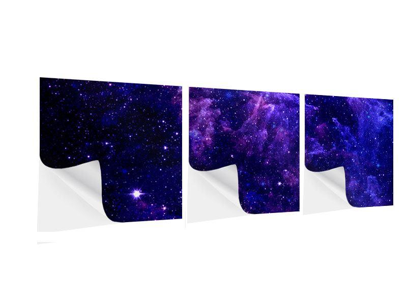 Panorama Klebeposter 3-teilig Ein Himmel voll Sterne