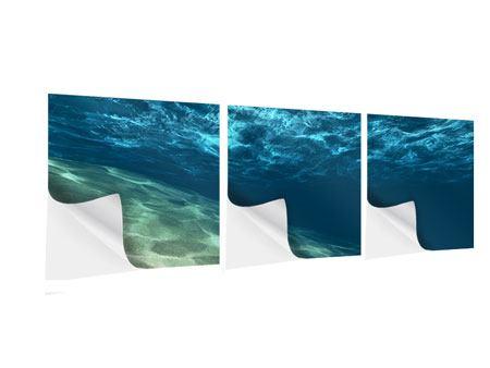 Panorama Klebeposter 3-teilig Unter dem Wasser