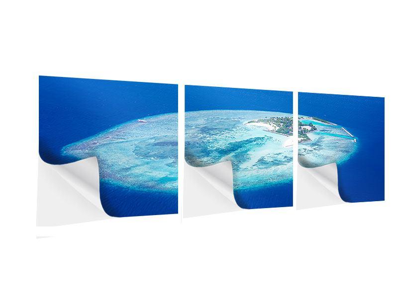 Panorama Klebeposter 3-teilig Reif für die Trauminsel