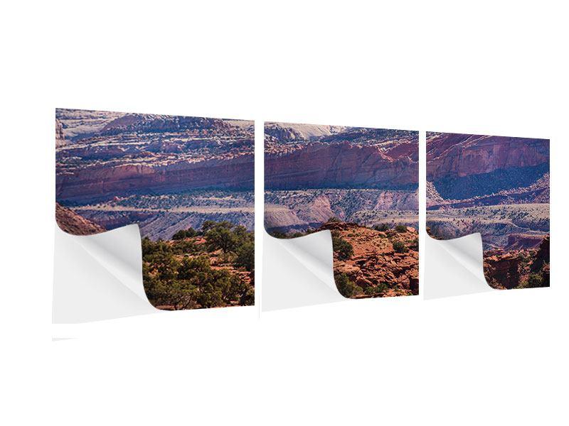Panorama Klebeposter 3-teilig Bruce-Canyon-Nationalpark