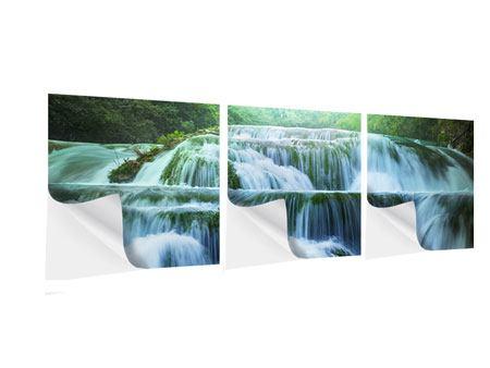 Panorama Klebeposter 3-teilig Gigantischer Wasserfall