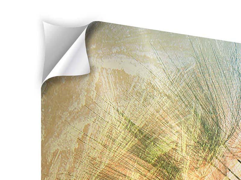 Klebeposter 3-teilig modern XXL Pusteblume