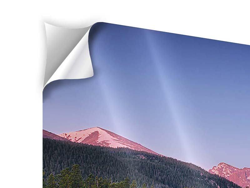 Klebeposter 3-teilig modern Sprague Lake-Rocky Mountains