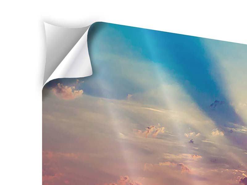 Klebeposter 3-teilig modern Mystischer Sonnenaufgang