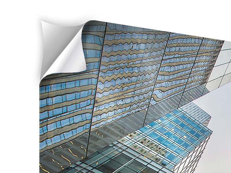 Klebeposter 3-teilig modern Hochhäuser