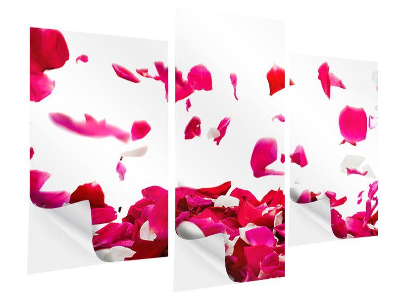 Klebeposter 3-teilig modern Für mich soll`s rote Rosen regnen