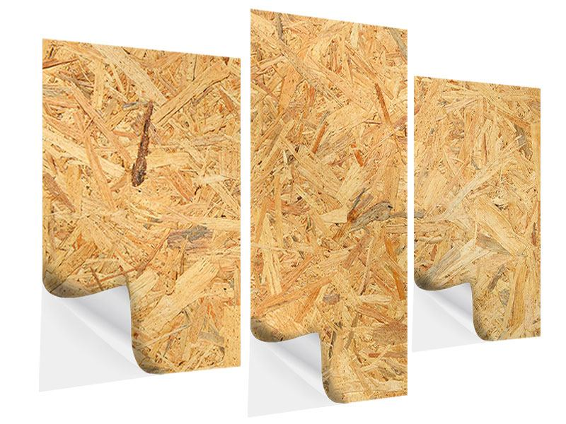 Klebeposter 3-teilig modern Gepresstes Holz