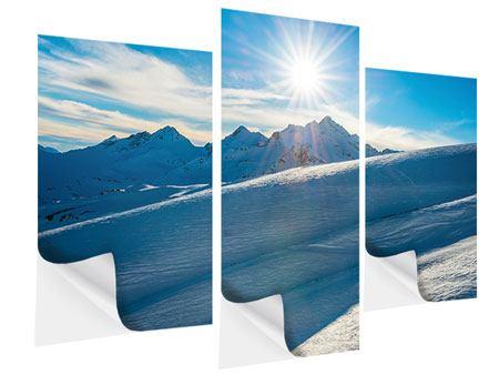 Klebeposter 3-teilig modern Ein Wintermärchen in den Bergen