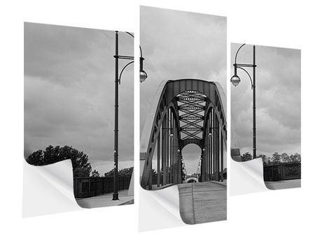Klebeposter 3-teilig modern Poetische Brücke