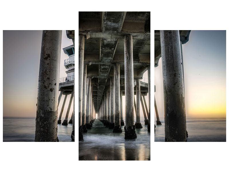 Klebeposter 3-teilig modern Brückenpfeiler