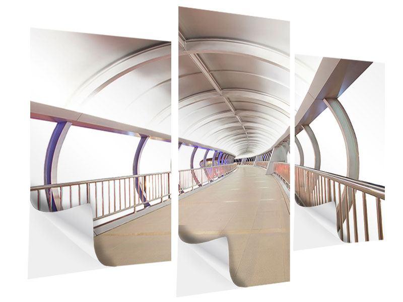 Klebeposter 3-teilig modern Brückenfeeling