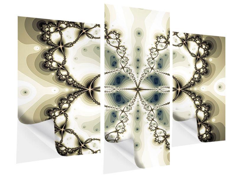 Klebeposter 3-teilig modern Abstrakter Schmetterling