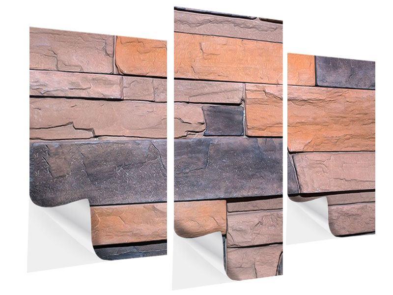Klebeposter 3-teilig modern Wall