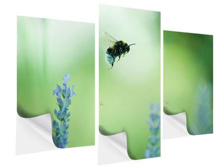 Klebeposter 3-teilig modern Die Biene