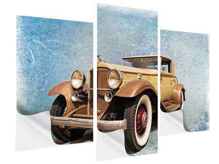 Klebeposter 3-teilig modern Nostalgischer Oldtimer