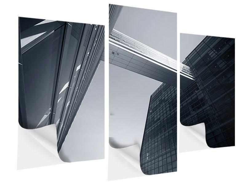 Klebeposter 3-teilig modern Der schwarze Diamant Kopenhagens