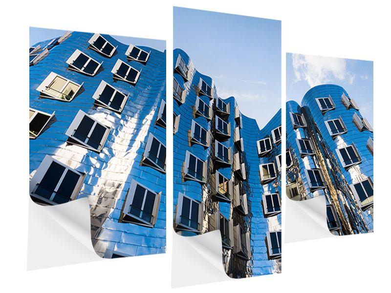 Klebeposter 3-teilig modern Neuer Zollhof