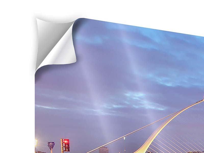 Klebeposter 3-teilig modern Samuel Beckett Bridge