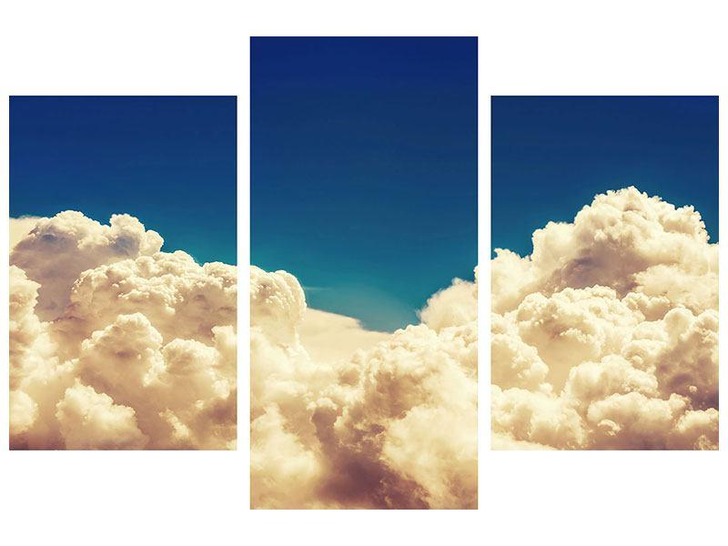 Klebeposter 3-teilig modern Himmelswolken