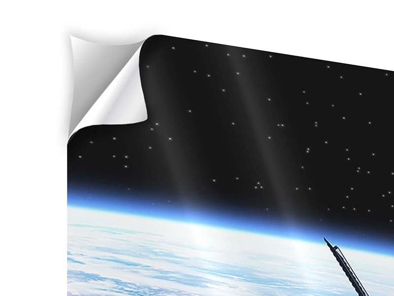 Klebeposter 3-teilig modern Satellit