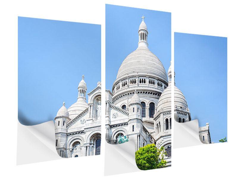 Klebeposter 3-teilig modern Paris- Montmartre