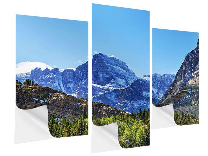 Klebeposter 3-teilig modern Dem Gipfel entgegen