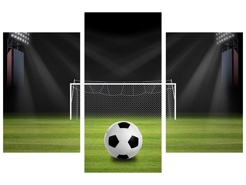 Klebeposter 3-teilig modern Fussball-Tor