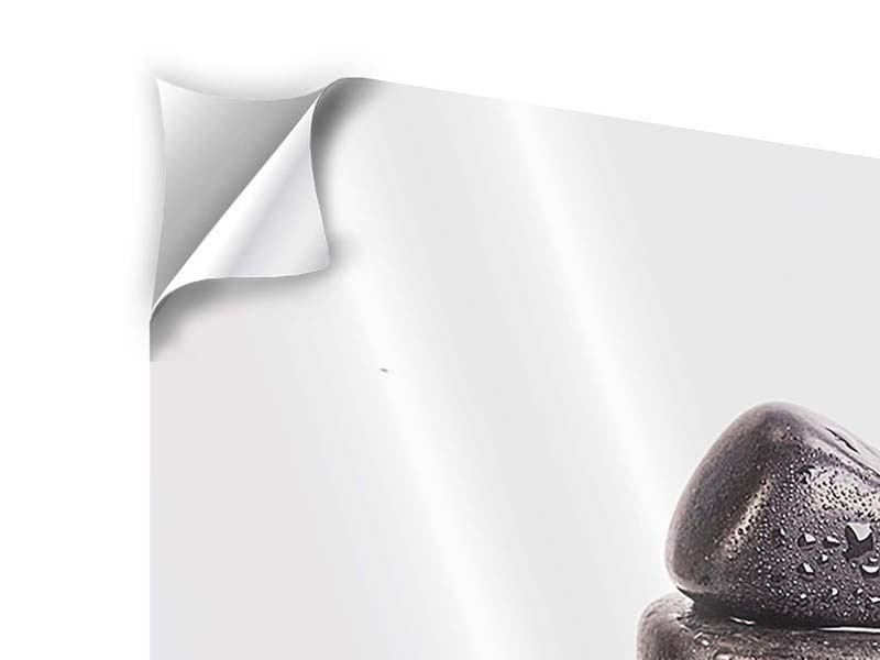 Klebeposter 3-teilig modern Die Kraft der Steine