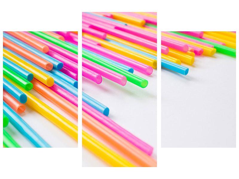 Klebeposter 3-teilig modern Pop Art