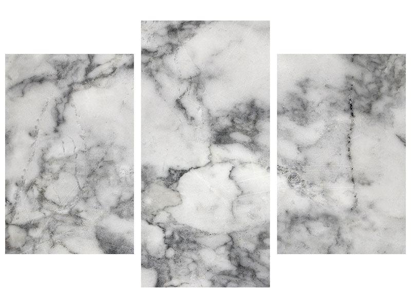 Klebeposter 3-teilig modern Klassischer Marmor
