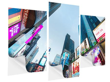 Klebeposter 3-teilig modern Shopping in NYC