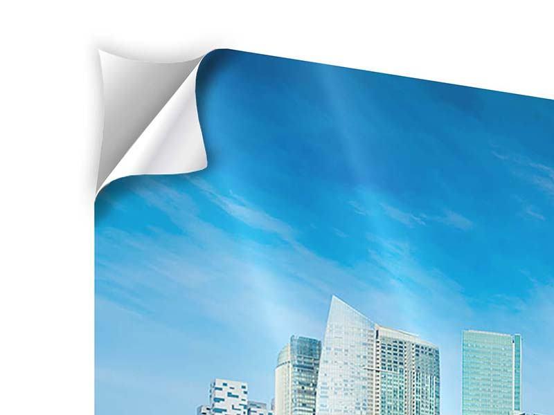 Klebeposter 3-teilig modern Skyline Mexiko-Stadt