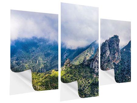 Klebeposter 3-teilig modern Der stille Berg