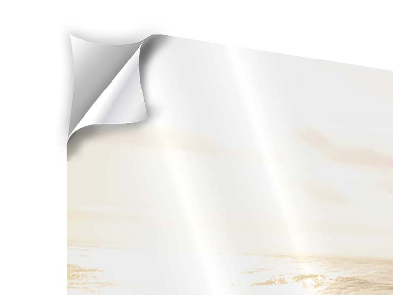 Klebeposter 3-teilig modern Meeresbrandung