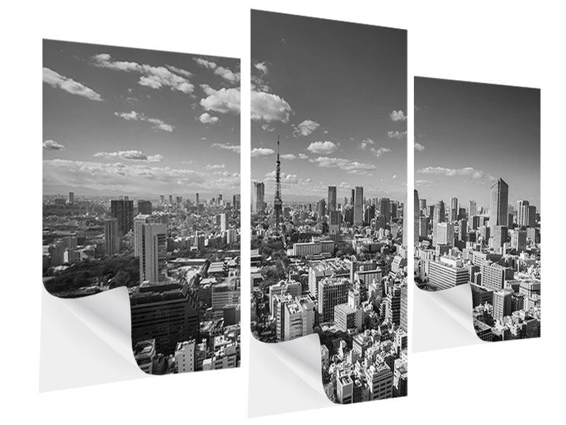 Klebeposter 3-teilig modern Tokio
