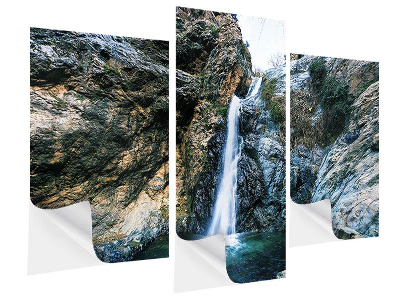 Klebeposter 3-teilig modern Bewegtes Wasser
