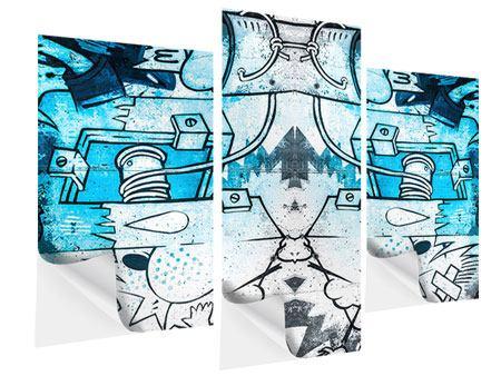 Klebeposter 3-teilig modern Graffiti