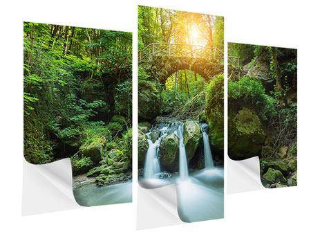 Klebeposter 3-teilig modern Wasserspiegelungen