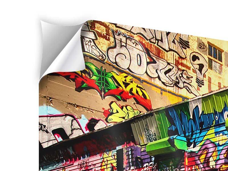 Klebeposter 3-teilig modern NY Graffiti