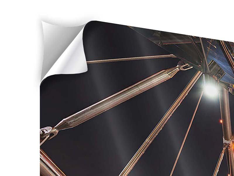 Klebeposter 3-teilig modern Brückenlichter